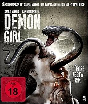"""Das Covermotiv der deutschen BluRay: """"Demon Girl"""""""