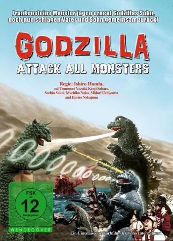 Godzilla: Attack All Monsters Cover