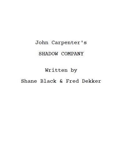 Shadow Company Deckblatt
