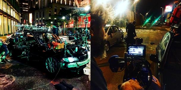 """Zwei """"Behind the Scenes""""-Pics von Wheelman."""