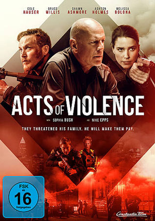Acts of Violence mit Bruce Willis Deutsches DVD Cover