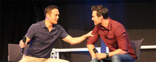 Mark Dacascos und Brett Dalton beim Q&A auf der Comic Con