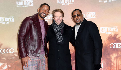 Jerry Bruckheimer mit Will Smith und Martin Lawrence zur Bad Boys For Life in Berlin