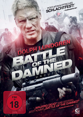 "Dolph Lundgren und Roboter gegen Zombies in ""Battle of the Damned""."