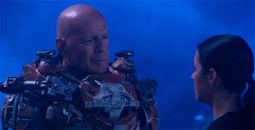 "Bruce Willis in ""Cosmic Sin"""