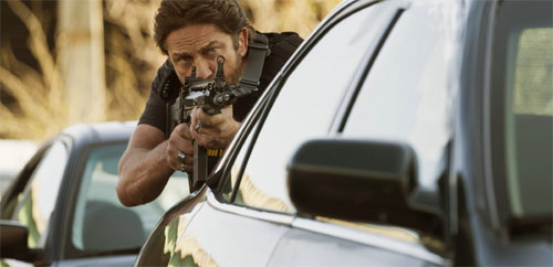 Criminal Squad Gerard Butler mit Waffe