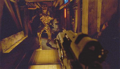 First Person Shooter Sequenz aus Doom