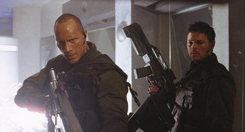 Doom mit Dwayne Johnson und Karl Urban