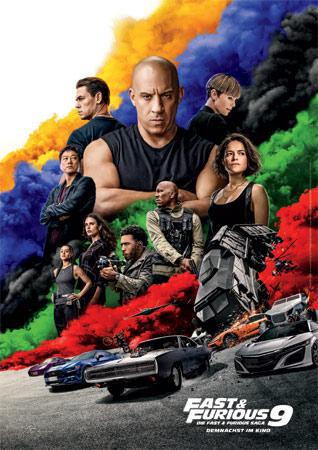 Fast & Furious 9 mit Vin Diesel, Kurt Russell und Jason Statham Poster