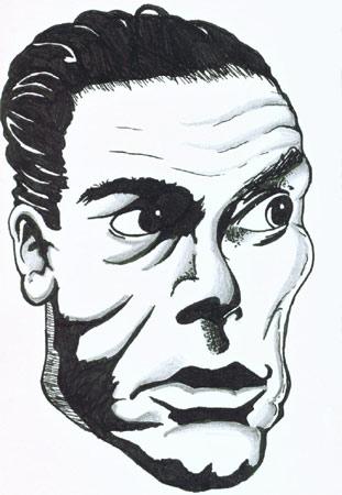 Jean-Claude Van Damme im Spagat Comic-Spaß