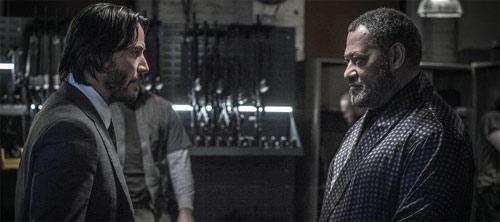 John Wick: Kapitel 2 Keanu Reeves und Laurence Fishburne