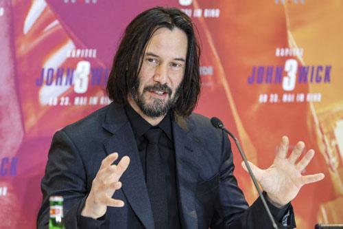 Keanu Reeves bei der Pressekonferenz zu seinem neuen Film