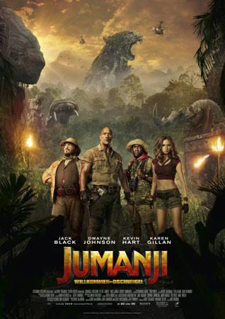 Jumanji - Willkommen im Dschungel deutsches Filmplakat