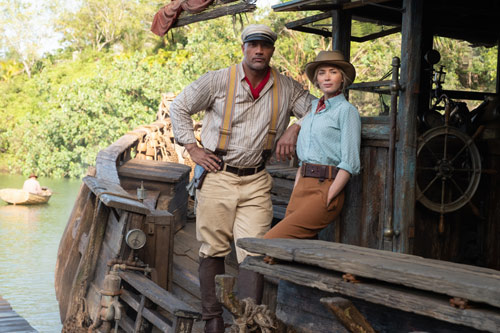 """Emily Blunt und Dwayne Johnson in """"Jungle Cruise"""""""