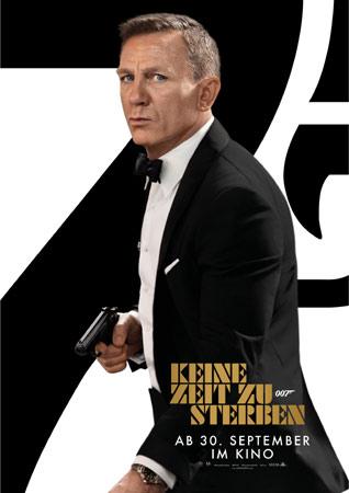 Keine Zeit zu sterben James Bond 007 Poster mit Daniel Craig