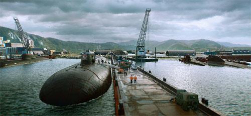 Das Atom-U-Boot kurz vorm Auslaufen