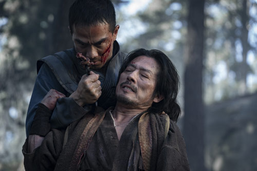 Hiroyuki Sanada und Joe Taslim in Mortal Kombat