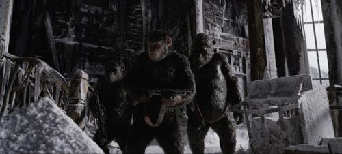 Planet der Affen Survival Caesar bewaffnet