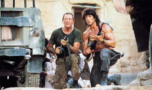 Rambo III mit Sylvester Stallone und Richard Grenna