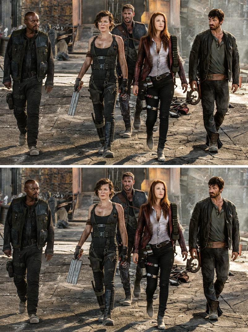Resident Evil: The Final Chapter Bildunterschiede Quiz