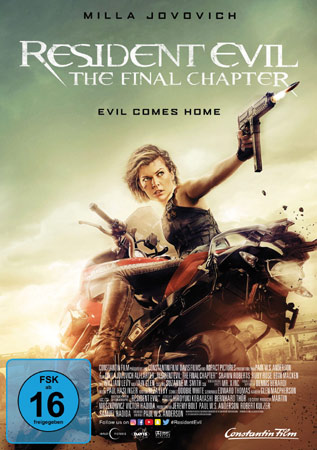 Resident Evil: The Final Chapter DVD Cover