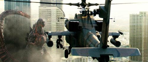 Shin Godzilla Hubschrauber versus Godzilla
