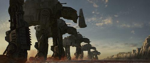 Star Wars: Die letzten Jedi Walker in Stellung