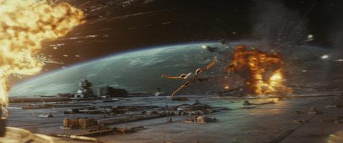 Star Wars: Die letzten Jedi Raumschlacht mit X-Fighter
