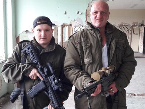 Heiko Bender mit Patrick Roy Beckert, Regisseur von Breakdown Forest