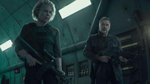 Terminator: Dark Fate mit Arnold Schwarzenegger und Linda Hamilton