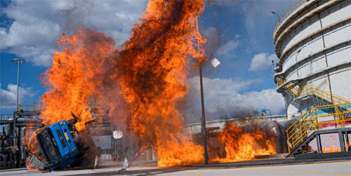 Action aus Feuerwehrfilm