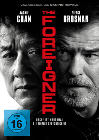The Foreigner Jackie Chan und Pierce Brosnan auf DVD Cover