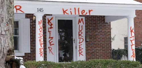Vendetta Aftermath Hausbeschmierungen