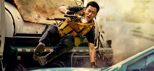 Wolf Warrior 2 Wu Jing in Action